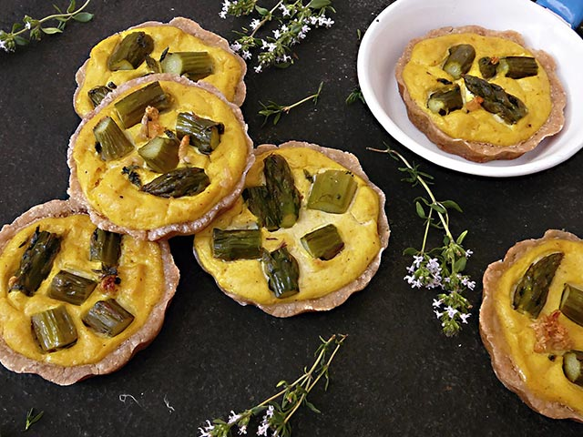 Mini vege quiche